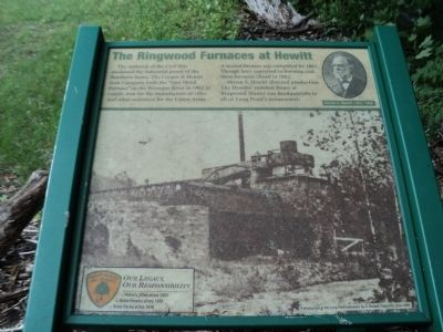 The Ringwood Furnaces at Hewitt Marker image. Click for full size.
