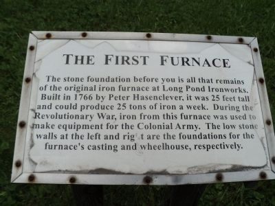 The First Furnace Marker image. Click for full size.