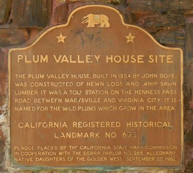 Plum Valley House Site Marker image. Click for full size.