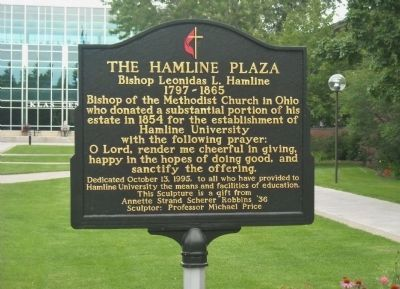 The Hamline Plaza Marker image. Click for full size.