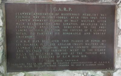 C.A.R.P. Plaque image. Click for full size.
