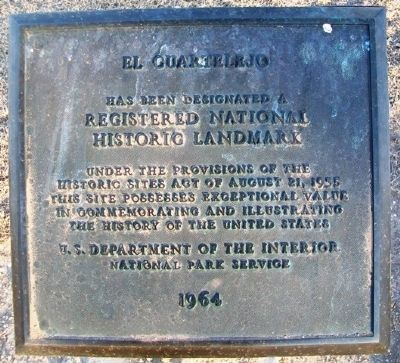 El Cuartelejo National Historic Landmark Marker image. Click for full size.