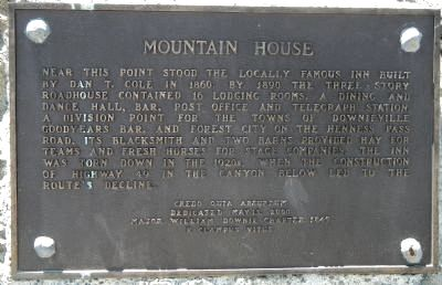 Mountain House Marker image. Click for full size.