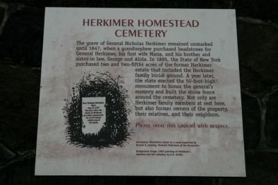 Herkimer Homestead Cemetery Marker image. Click for full size.