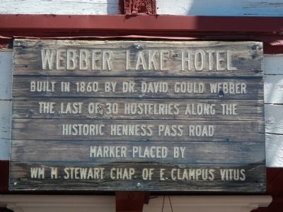 Webber Lake Hotel Marker image. Click for full size.