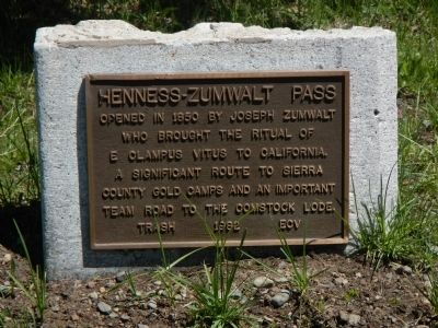Henness – Zumwalt Pass Marker image. Click for full size.
