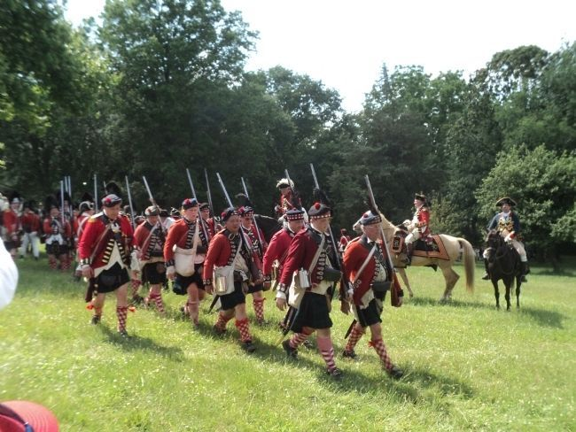British Grenadiers at the Battle of Monmouth image. Click for full size.