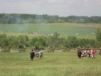 Cannonade on the Monmouth Battlefield image. Click for full size.