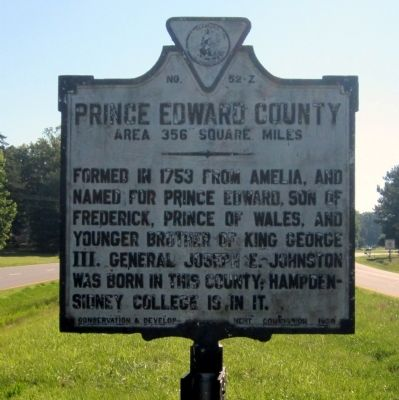 Prince Edward County Marker (reverse) image. Click for full size.