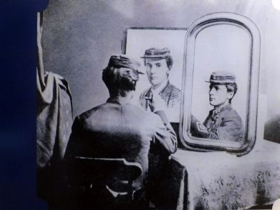 Photo of Michelson Drawing Himself image. Click for full size.