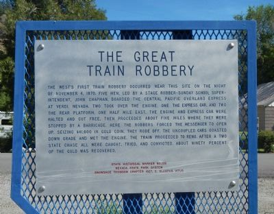 The Great Train Robbery Marker image. Click for full size.