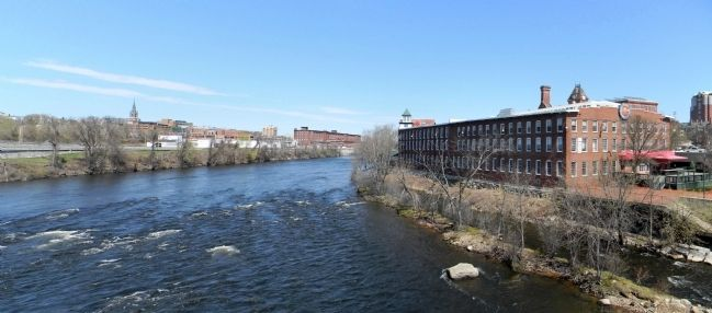 Buildings of the Amoskeag Mills on the banks of the Merrimac River today image. Click for full size.