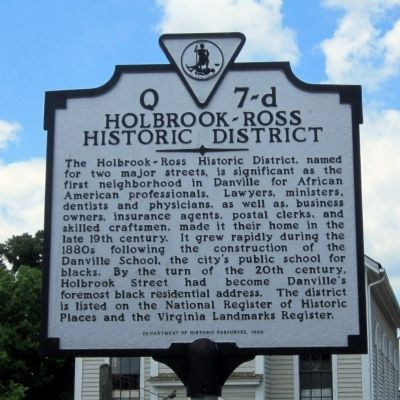 Holbrook-Ross Historic District Marker image. Click for full size.