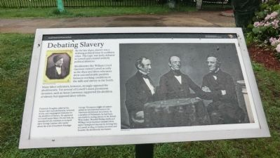 Debating Slavery Marker image. Click for full size.