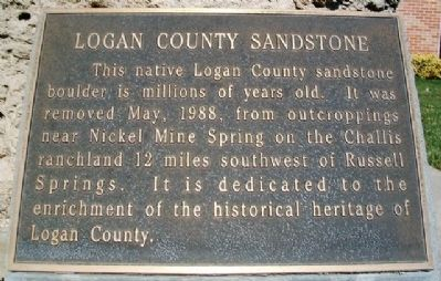 Logan County Sandstone Marker image. Click for full size.