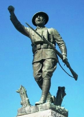 Logan County War Memorial Doughboy Statue image. Click for full size.