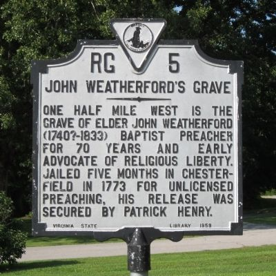 John Weatherford's Grave Marker image. Click for full size.