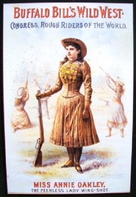 Poster on Annie Oakley Marker image. Click for full size.