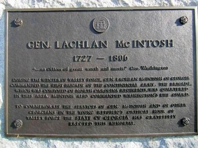 Gen. Lachlan McIntosh Marker image. Click for full size.