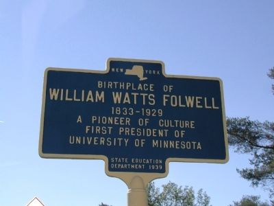 William Watts Folwell Marker image. Click for full size.