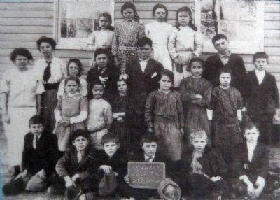 Class photo shows the Port Republic School #7 in the 1910's, image. Click for full size.