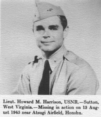Lieut Howard M. Harrison, USNR image. Click for full size.