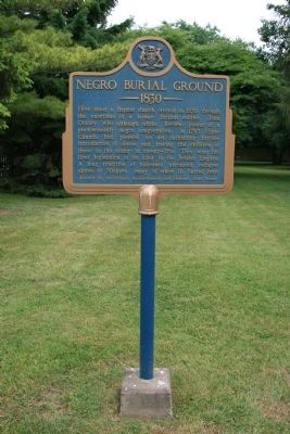 Negro Burial Ground 1830 Marker image. Click for full size.