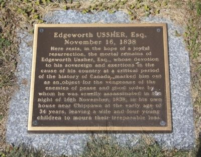 Edgeworth Ussher, Esq. Marker image. Click for full size.