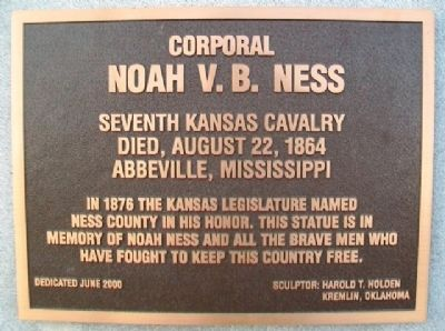 Corporal Noah V. B. Ness Marker image. Click for full size.