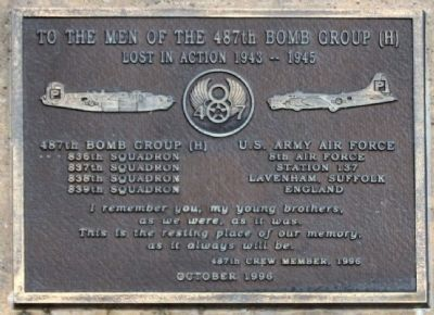 487th Bomb Group Marker image. Click for full size.