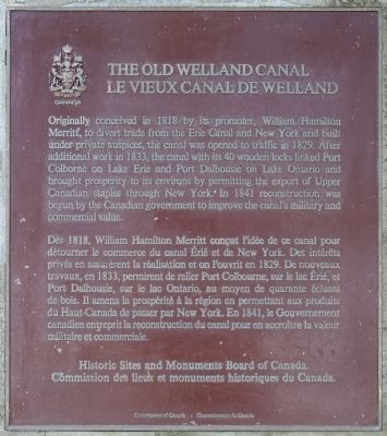 The Old Welland Canal Marker image. Click for full size.