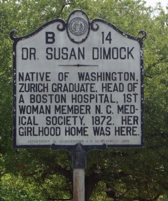 Dr. Susan Dimock Marker image. Click for full size.