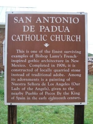 San Antonio de Padua Catholic Church Marker image. Click for full size.