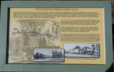 Three Railroads Through Sierra Valley Panel 2 image. Click for full size.
