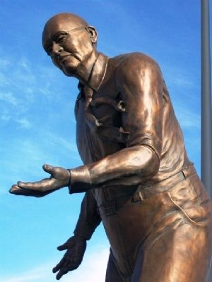 Jack Kilby Statue Detail image. Click for full size.