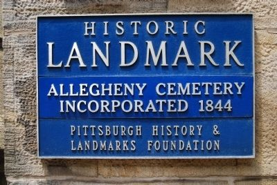 Allegheny Cemetery Incorporated Marker image. Click for full size.