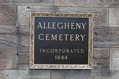 Allegheny Cemetery image. Click for full size.
