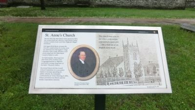 St. Anne's Church Marker image. Click for full size.