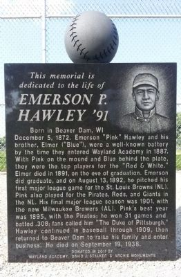 Emerson P. Hawley '91 Marker image. Click for full size.