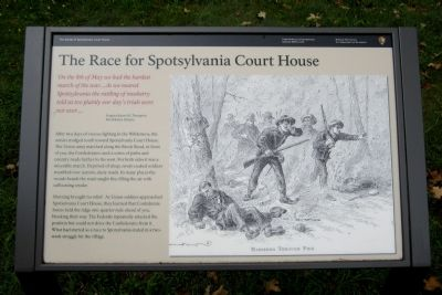 The Race for Spotsylvania Court House Marker image. Click for full size.