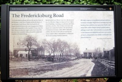 The Fredericksburg Road Marker image. Click for full size.