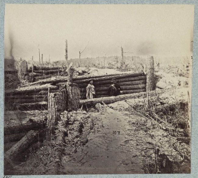 Confederate entrenchments near junction of old and new Court House Roads image. Click for full size.