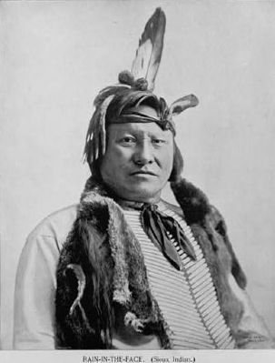 Rain-in-the-Face ... a warchief of the Lakota tribe image. Click for more information.