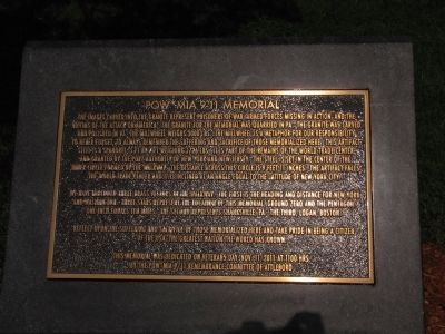 POW*MIA 9-11 Memorial Marker image. Click for full size.