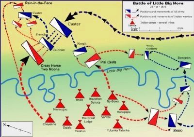 Little Bighorn Battlefield Map image. Click for full size.