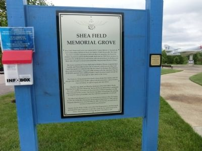 Shea Field Memorial Grove Marker image. Click for full size.