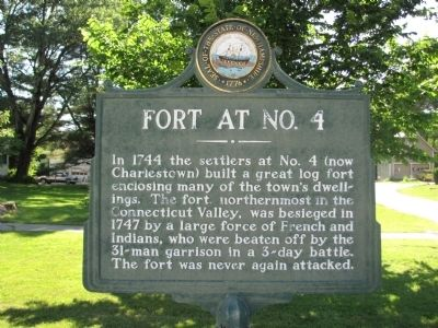 Fort at No. 4 Marker image. Click for full size.