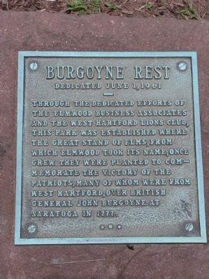 Burgoyne Rest Marker image. Click for full size.