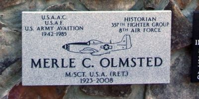 Merle C. Olmsted Marker image. Click for full size.