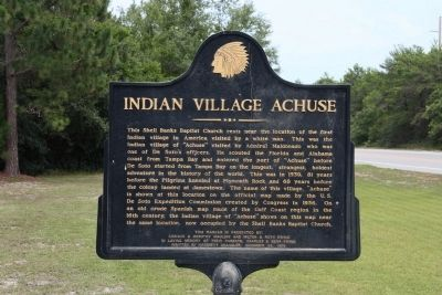 Indian Village Achuse Marker image. Click for full size.